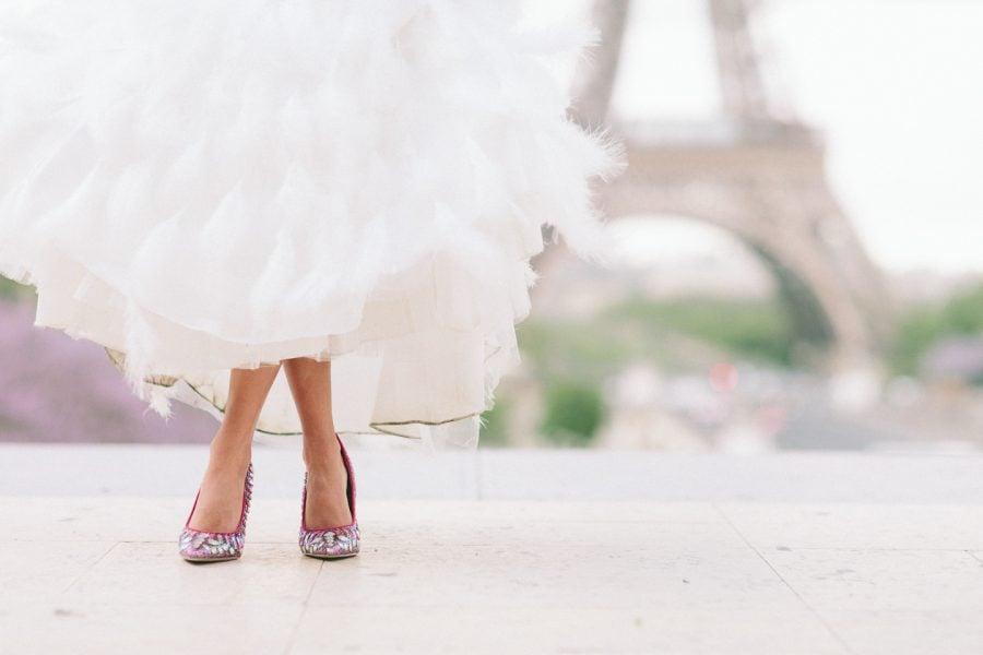 Brautschuhe im Lila - einen mutigen Kontrast setzen und Ihren umwerfenden Look zur Geltung bringen