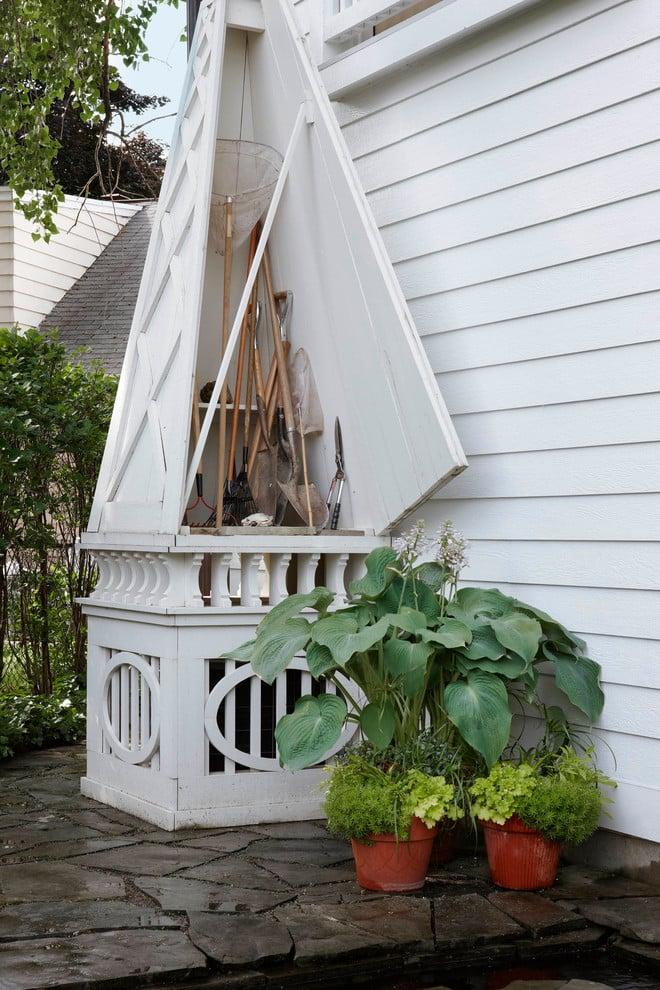 Gartenhaus als Stauraum gestalten