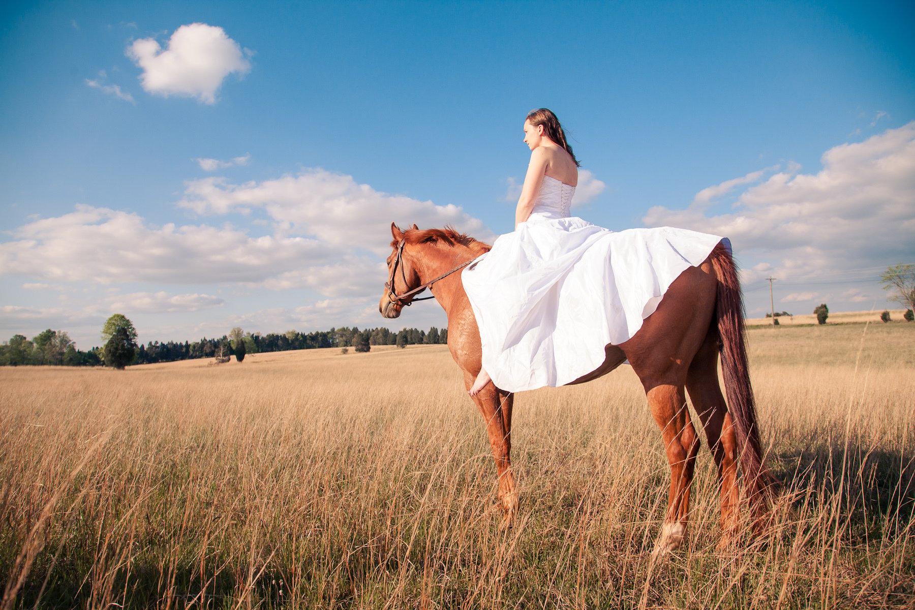 Ideen für schöne Pferdebilder mit Braut