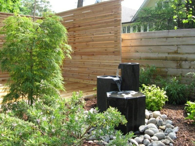 japanischer Ahorn Zen Garten herrlicher Look