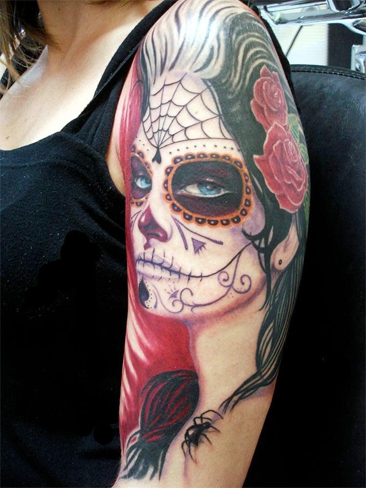 La Catrina Frauen Tattoo