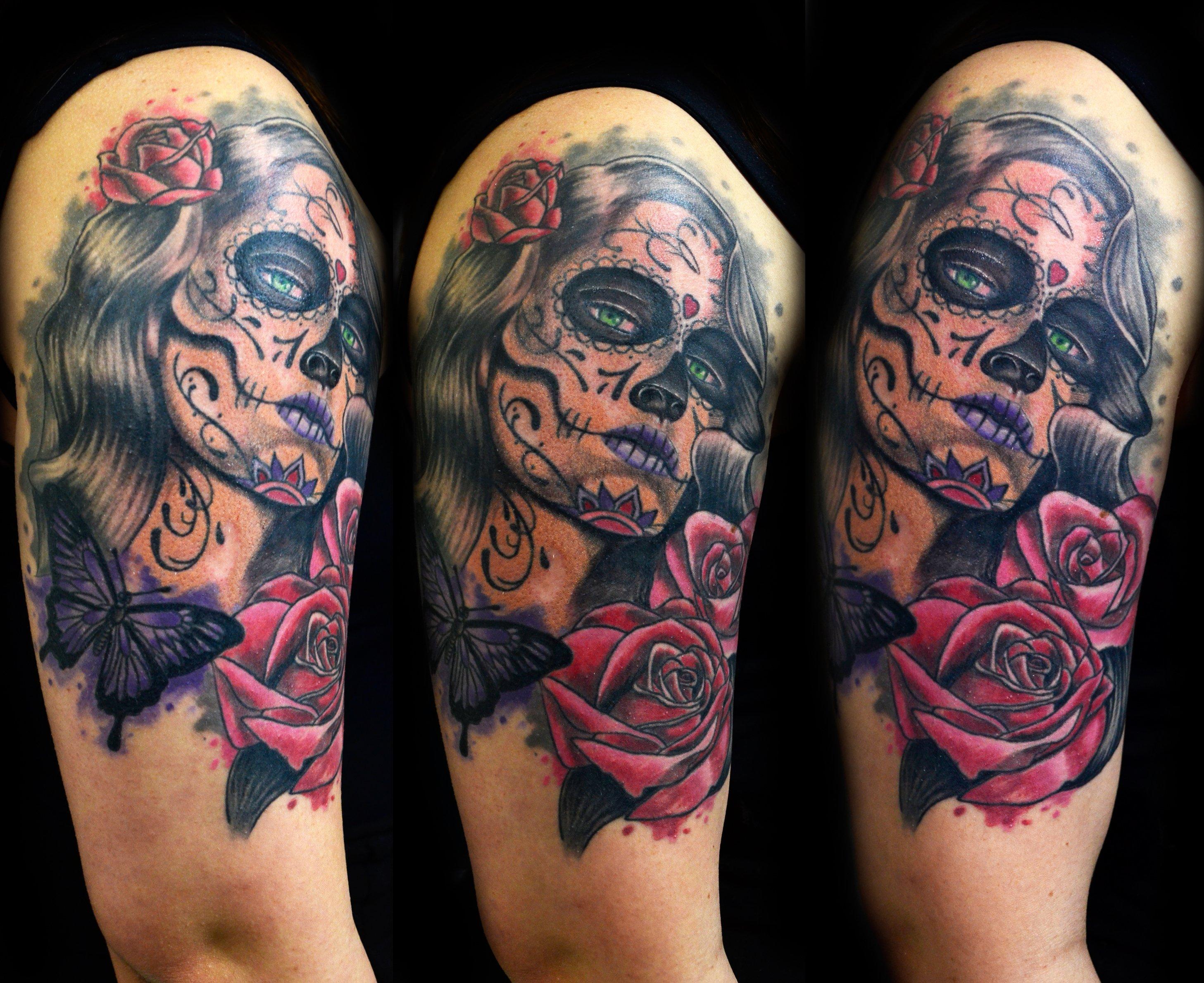 La Catrina Tattoo Frau
