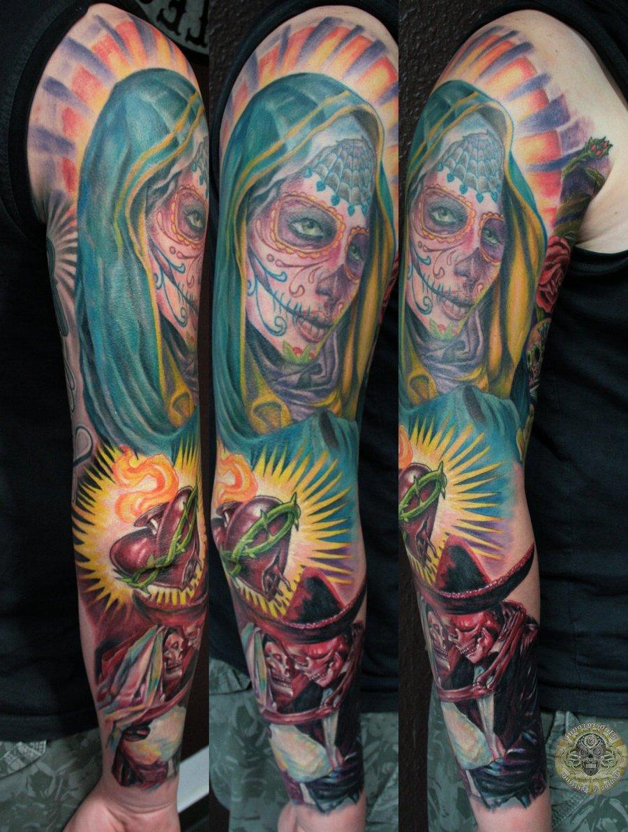 dia de los muertos Tattoo Vorlagen