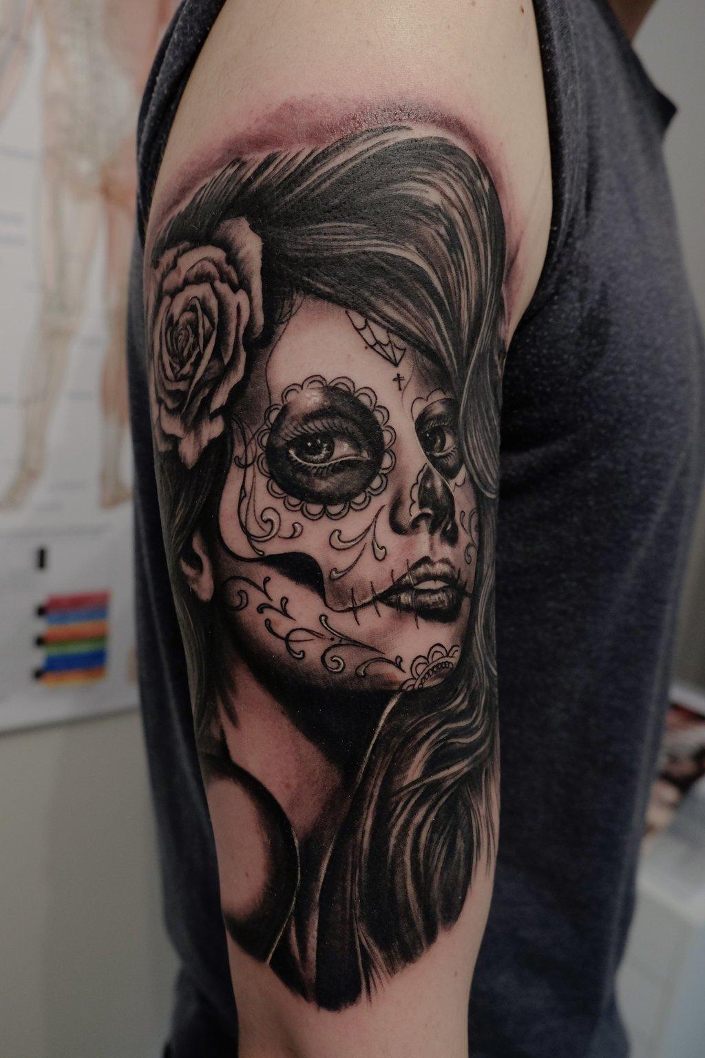 La Catrina Tattoos mit Bedeutung