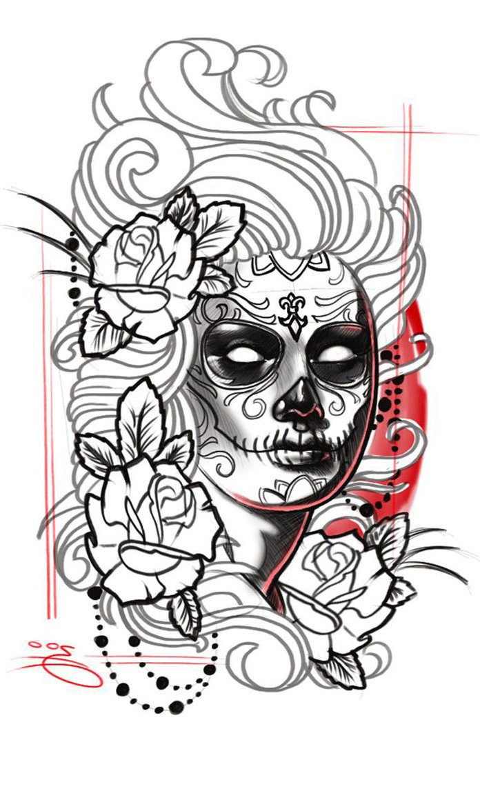 la catrina tattoo bedeutung was steht hinter dem trend tattoos zenideen. Black Bedroom Furniture Sets. Home Design Ideas