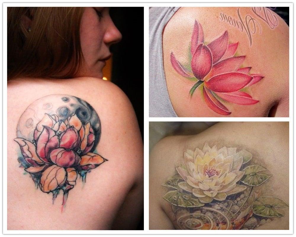 Es gibt drei Arten von Lotus Blüten, sowie von Lotusblume Tattoos