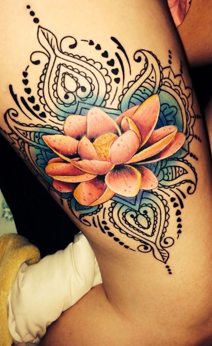 Lotusblume Mandala Tattoo