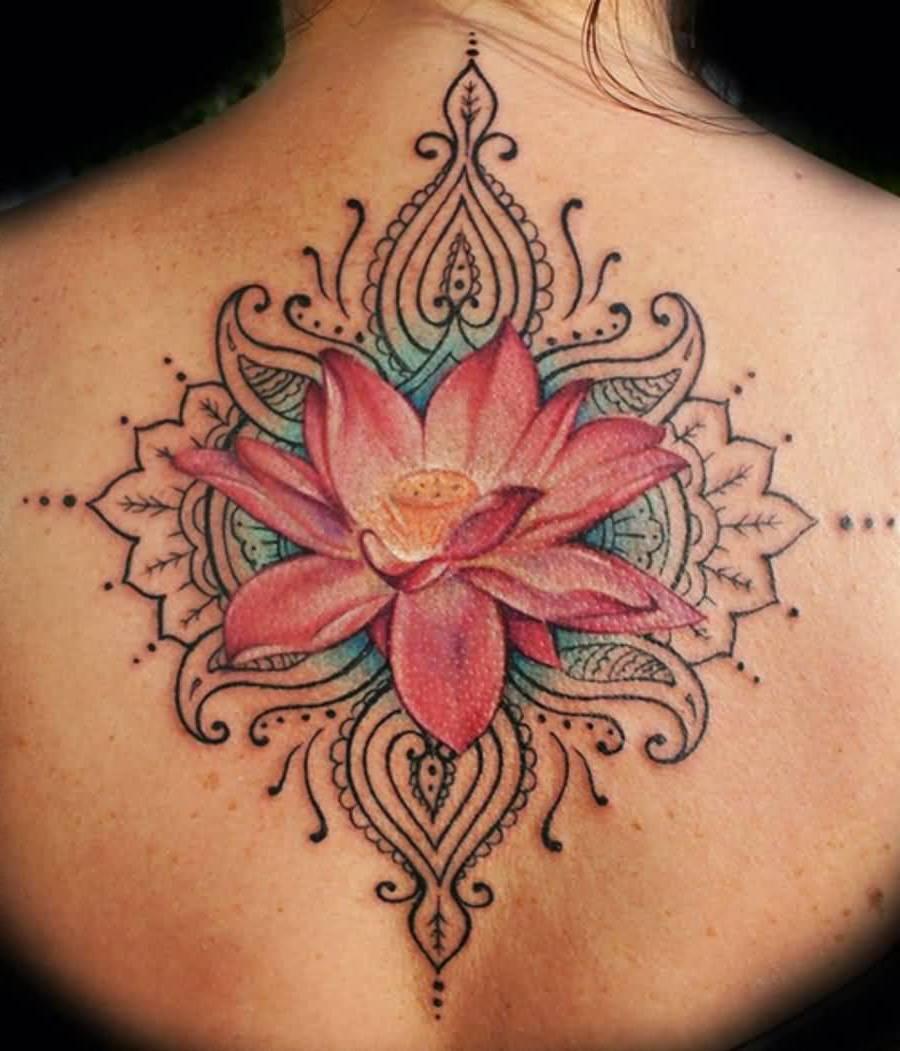 Mandala Tattoo Lotusblume