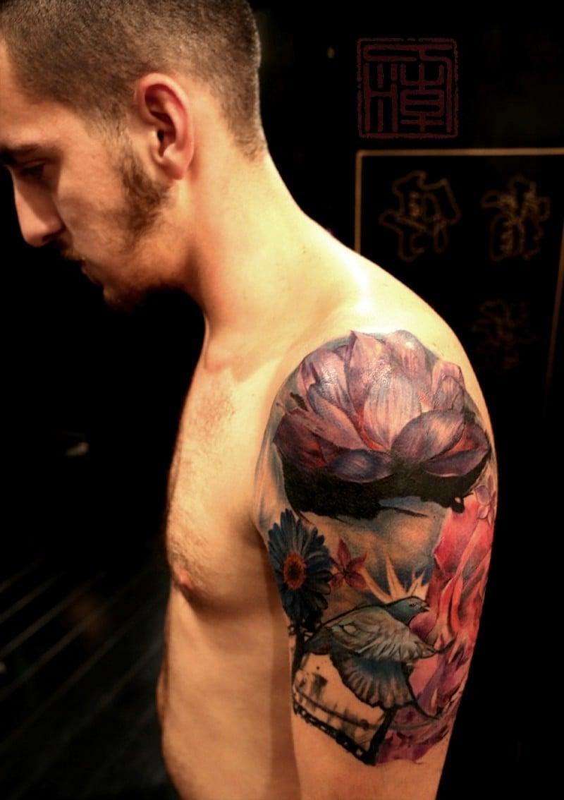Lotusblume Tattoo Männer Tattoos