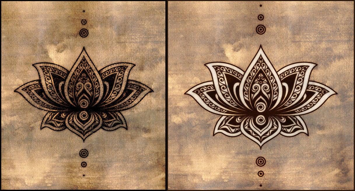 Mandala Tattoos Lotusblume