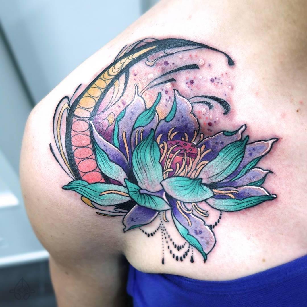 Lotusblume Tattoo Frauen Tattoo