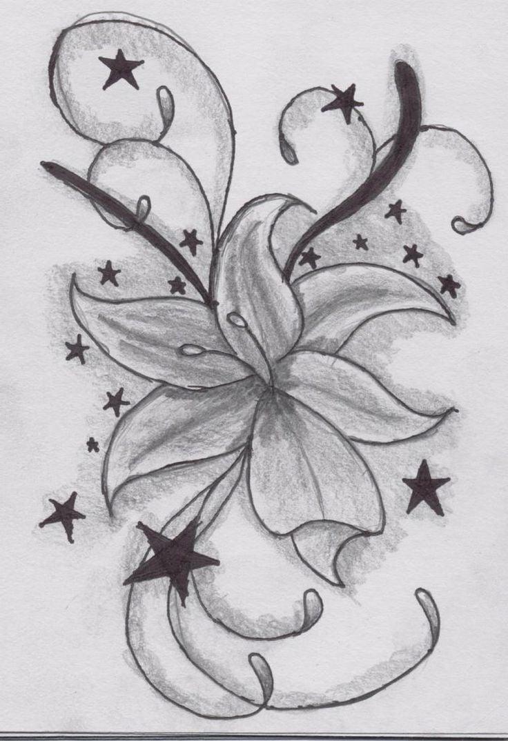 Lotusblume Tattoo Vorlage