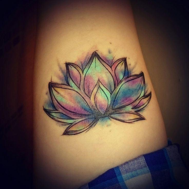 Lotusblume Tattoo Ideen Watercolor Tattoo