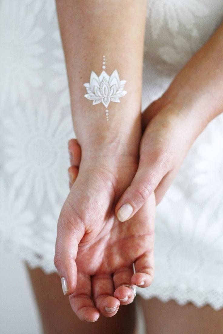 Lotusblume Weiße Tattoos