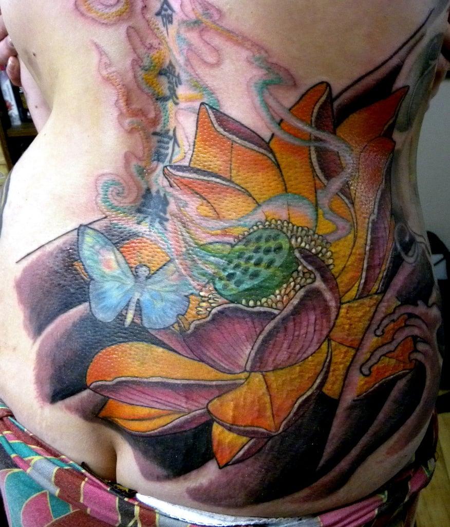 Lotusblume Tattoo Watercolor Tattoo
