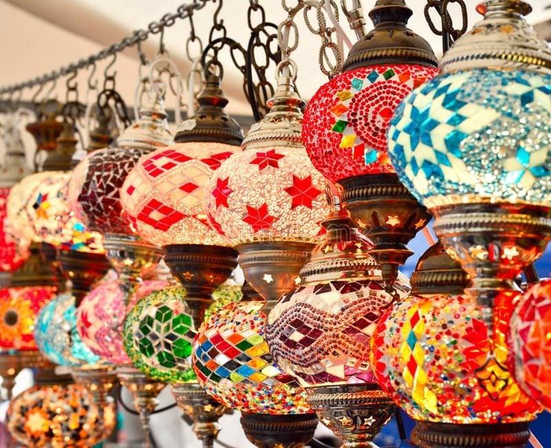orientalische Lampen marokkanische Glaslaternen