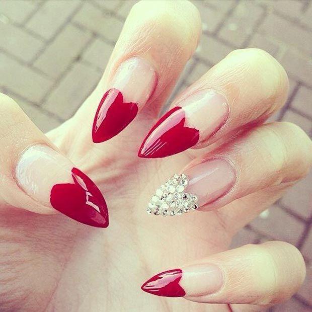 Das beliebte Fingernägel Design für Valentinstag