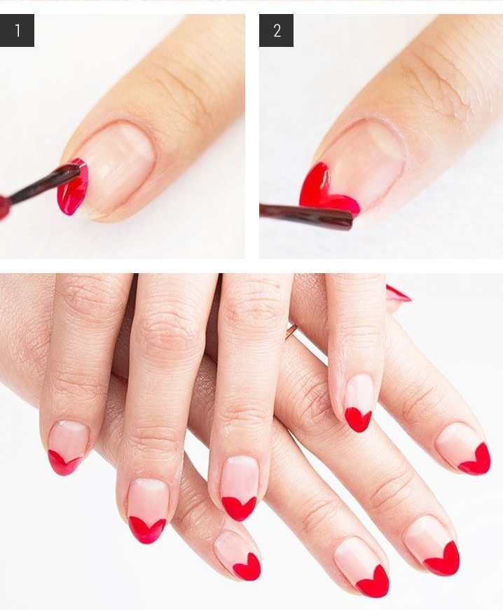 Das perfekte Fingernägel Muster zum Nachmachen für Valentinstag