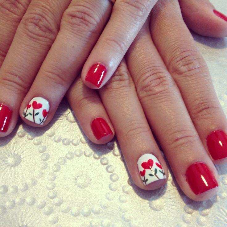 Tolle Fingernägel Muster für Valentinstag, die selber machen können