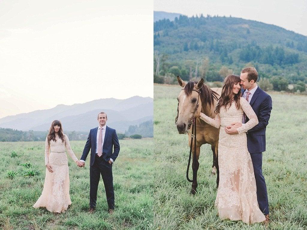 Hochzeitsfotos mit Pferd oder ohne? Welches Bild wirkt romantischer?