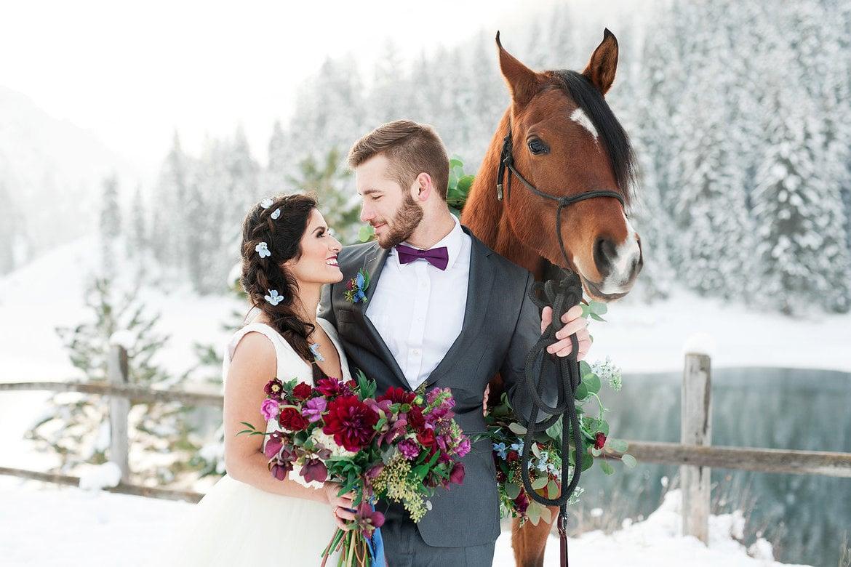 Pferdebilder - Idee für Hochzeitsfotos