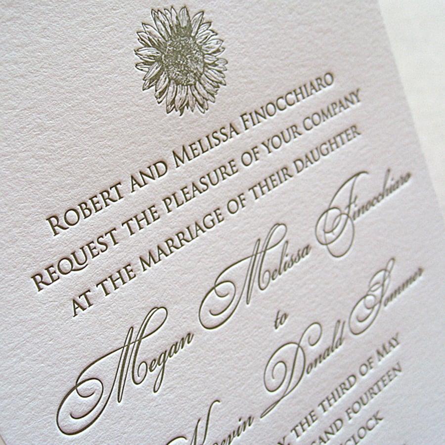 Hochzeitseinladung mit schöne Schrift
