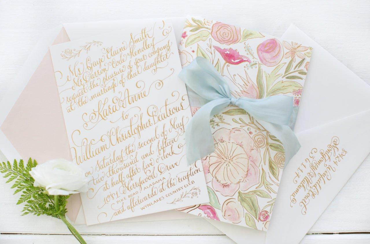Handschriftliche Schriftarten für Luxus Hochzeitseinladung