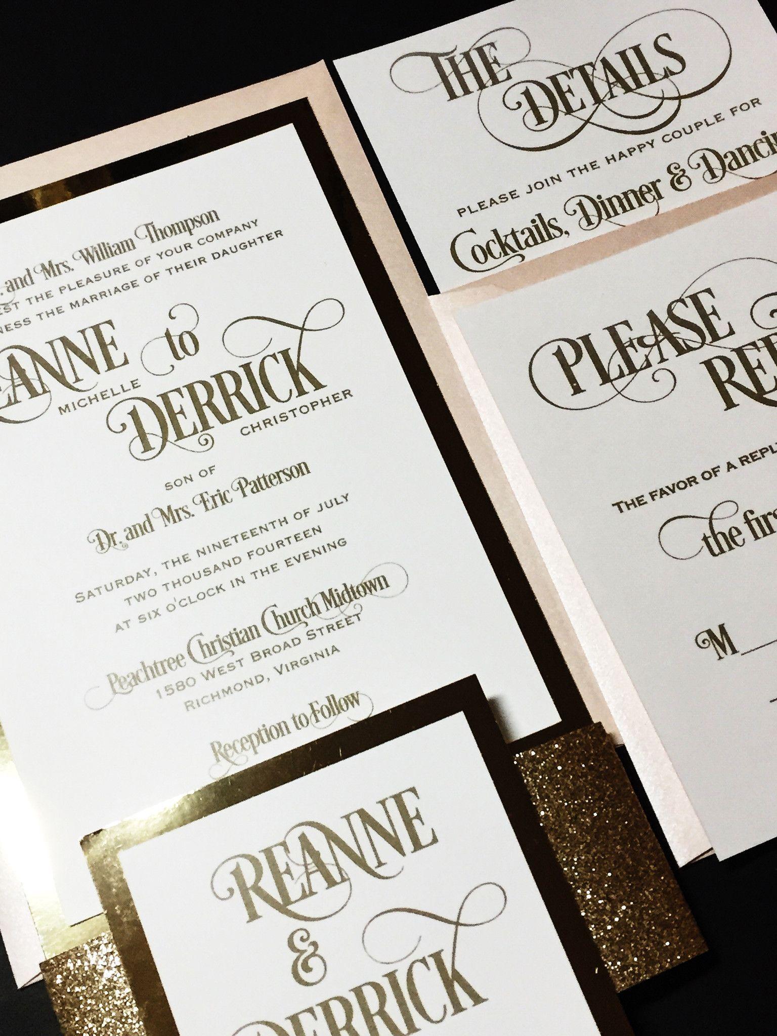 Schöne Schrift - Hochzeitseinladung Ideen