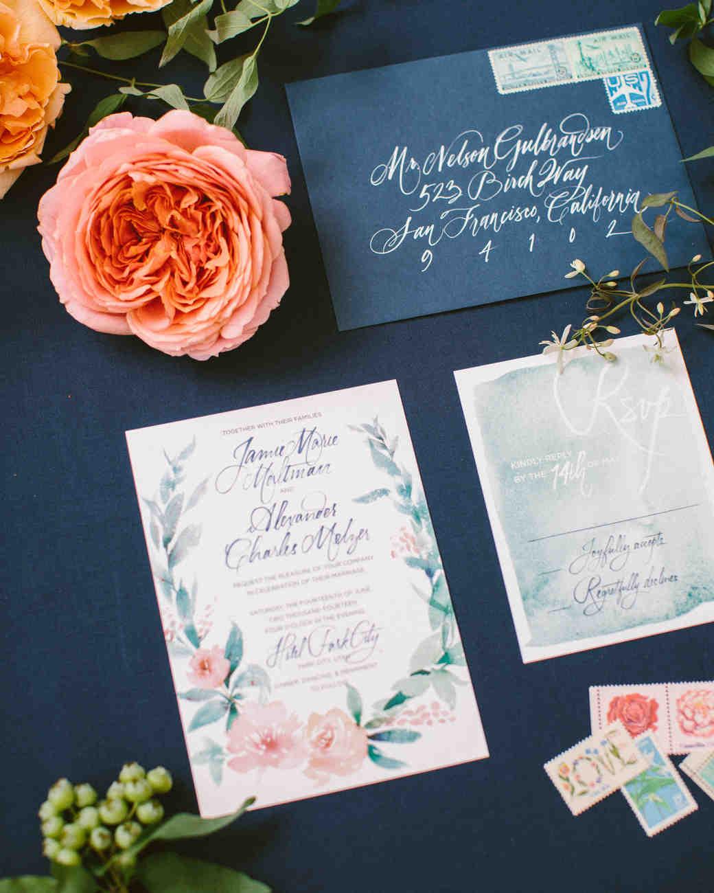 Kalligraphie für Hochzeitskarten - Handschriftliche Schriftarten