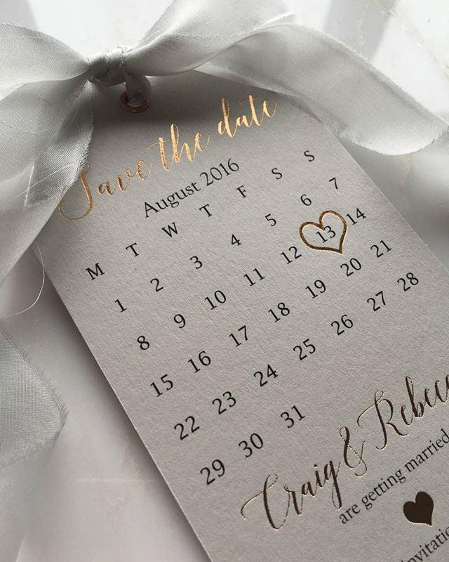 Schöne Schrift für Hochzeitskarten Save the Date