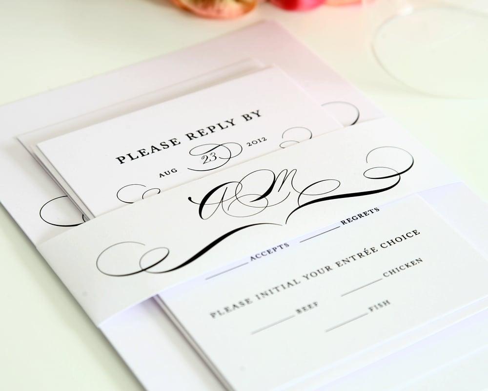 Hochzeitseinladung schöne Schrift Monogramm