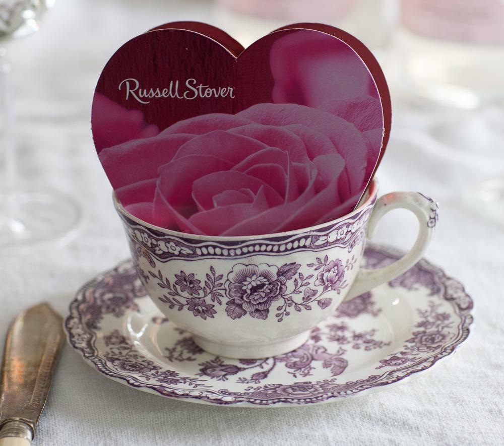 Gastgeschenk auf Valentinstag Tisch