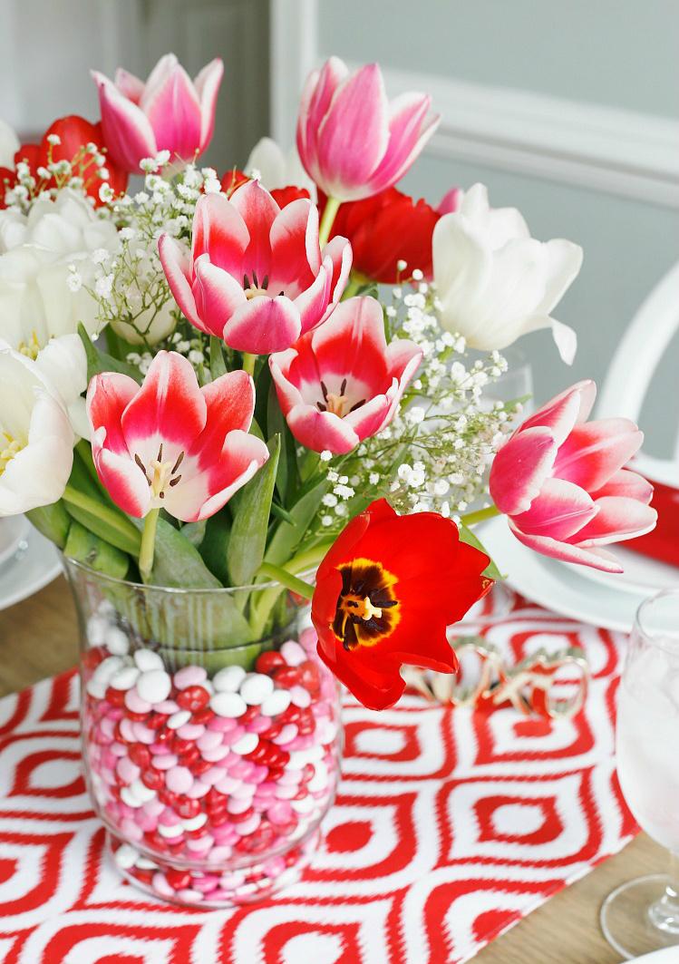 Tischdekoration Valentinstag Ideen