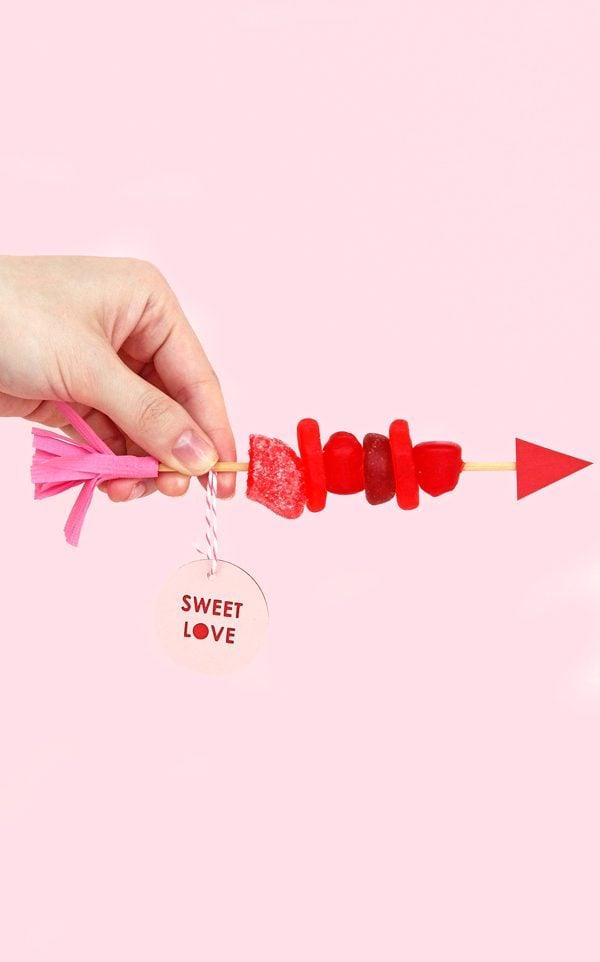 Candy Spieße zum Valentinstag schenken