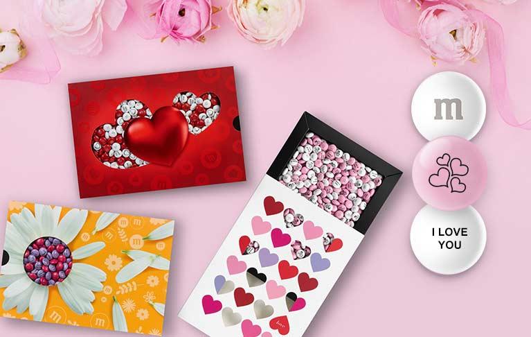 M§M haben ein sehr süßes Angebot für Valentinstag Geschenke für Männer und Frauen