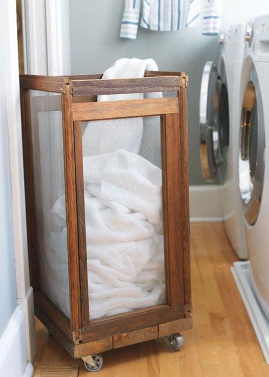 Einen Wäschekorb mit Kinderleicht selber basteln