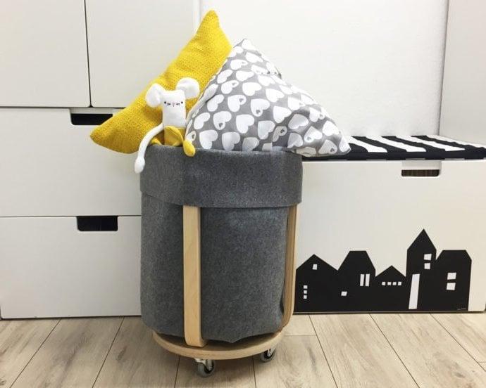 So geht es mit der Anleitung für Wäschekorb weiter