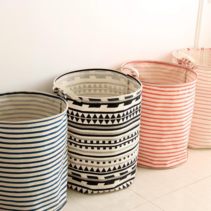 Viele schöne Muster für Wäschekörbe