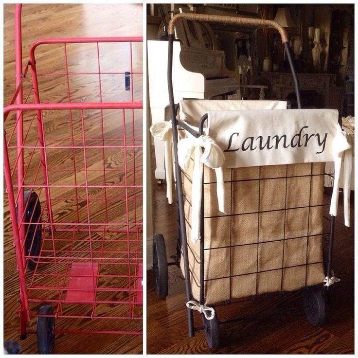 Viele coole Ideen, wie Sie selber einen Wäschekorb basteln können