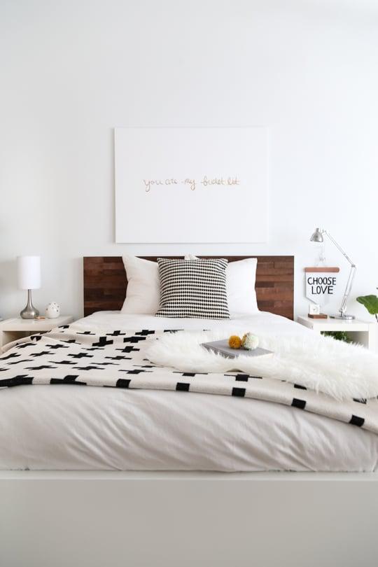 Kreative und einfache Wohnideen zum Selbermachen - Machen Sie ein wunderschönes Bettkopfteil selber