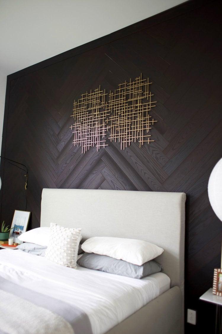 Kreative Wohnideen zum Selbermachen für Wandverkleidung - Foto-Anleitung