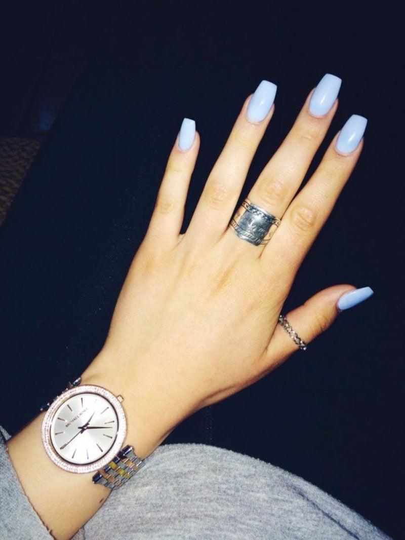 Acrylnägel selber machen Pastellnuancen hellblau