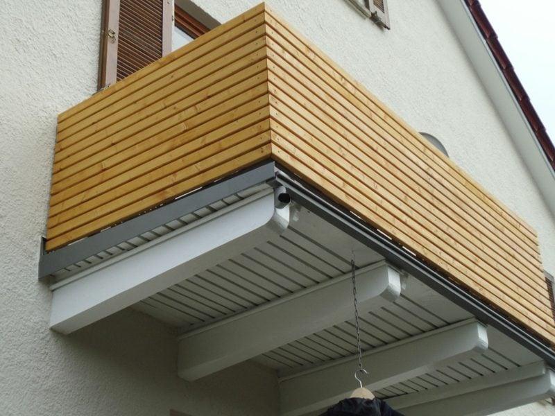 Balkonverkleidung Holz Sichtschutz
