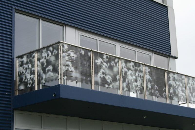 Balkonverkleidung Stoff originell