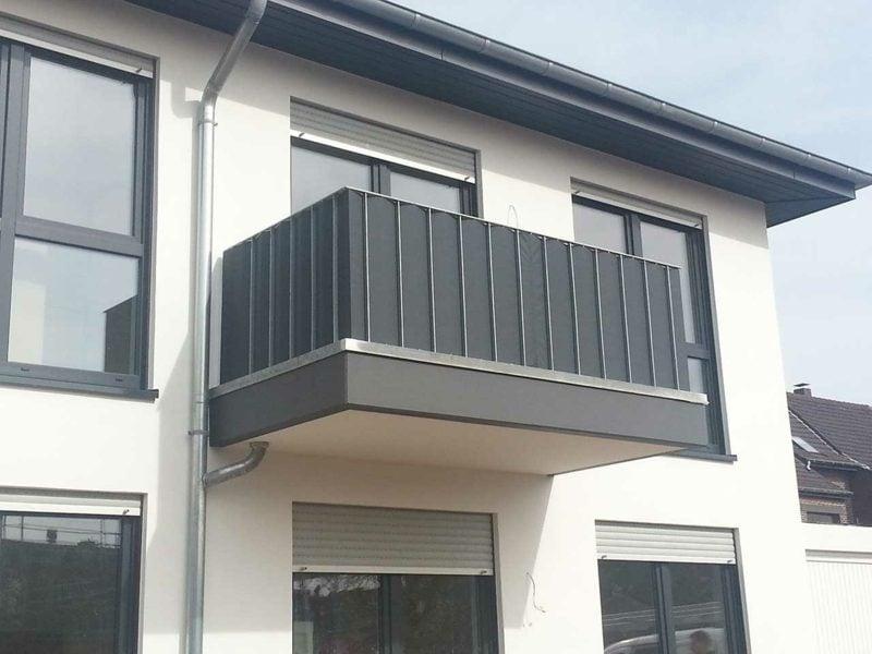Balkonverkleidung moderne Ideen Kunststoff