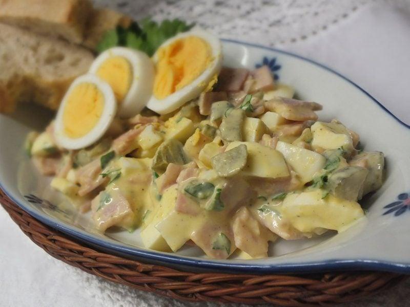Eiersalat mit Scinken der beste Rezept