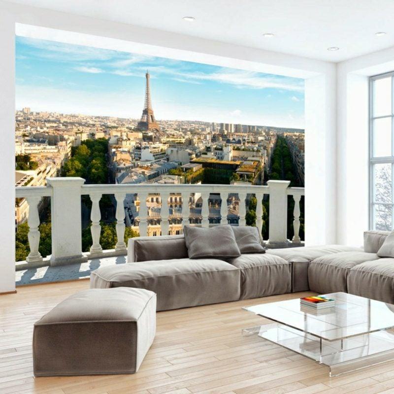 3D Fototapete Balkon Paris