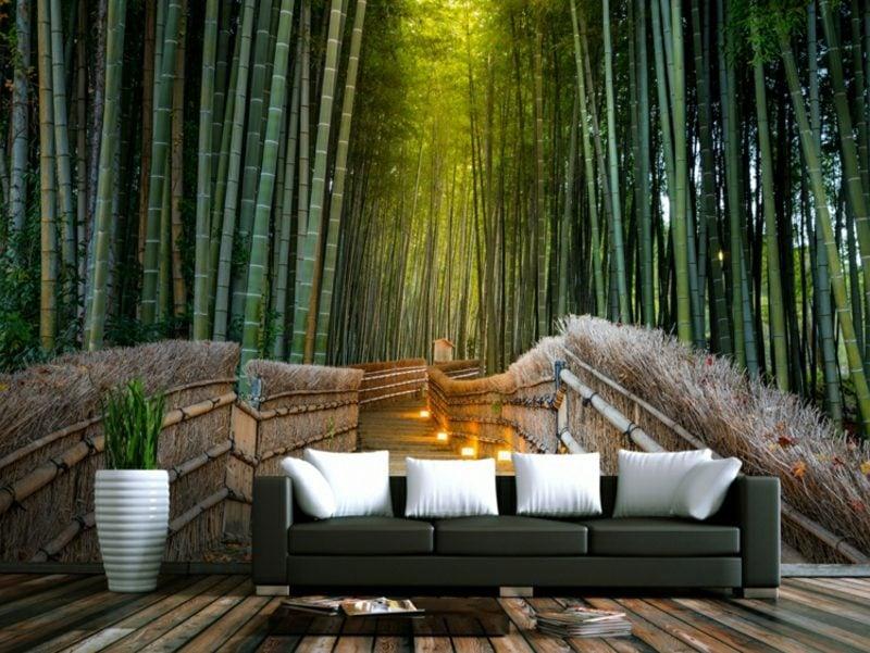 3D Fototapete asiatisch Bambuswald