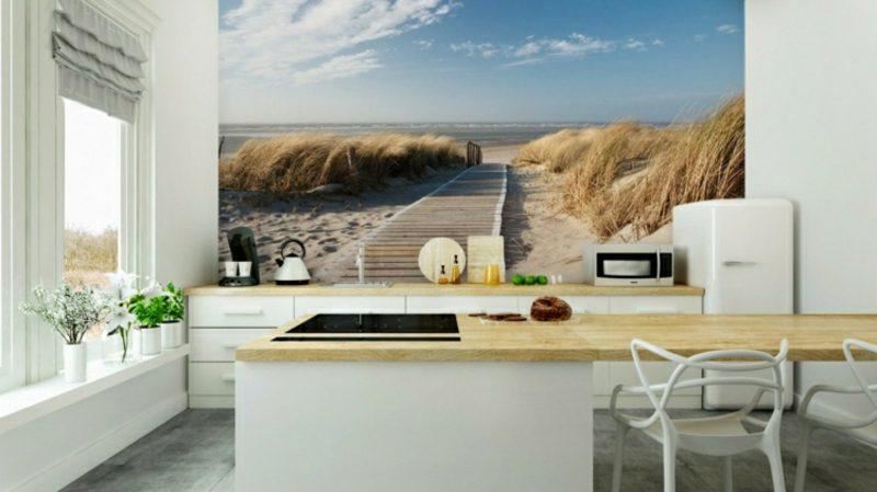 3D Fototapete Landschaft Strand