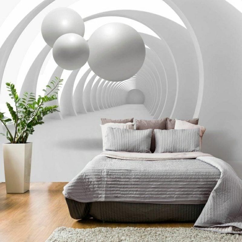 3D Fototapete Schlafzimmer geometrisch